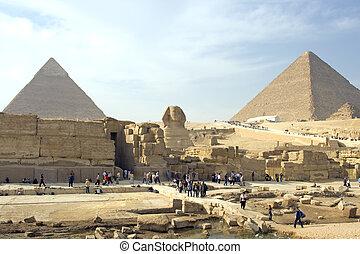 ギザ, スフィンクス, ピラミッド