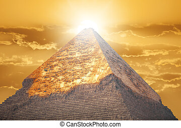 ギザ, ピラミッド, egypt.