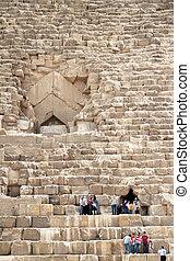 ギザ, cheops の ピラミッド, エジプト