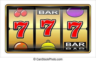 ギャンブル, 777, イラスト