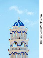 ギリシャ語, タワー, 教会, santorini, 鐘