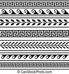 ギリシャ語, 幾何学的, セット, ボーダー