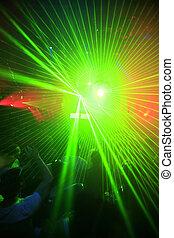 クラブ, パーティー, 背景, 夜