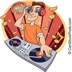 クラブ, dj, 音楽, 遊び