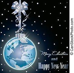 クリスマスカード, 世界, 優雅である