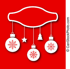 クリスマスカード, 装飾品, 伝統的である