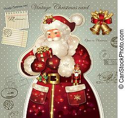 クリスマスカード, claus, santa