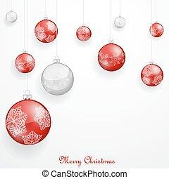クリスマス装飾, 赤