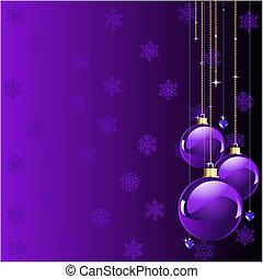 クリスマス, すみれ, 色