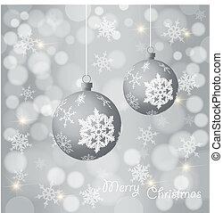 クリスマス, カラフルである, 銀