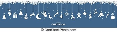 クリスマス, コレクション, アイコン, 掛かること