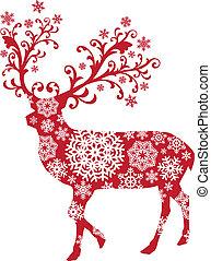 クリスマス, ベクトル, 鹿