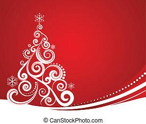 クリスマス, 赤, テンプレート