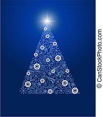 クリスマス, 飾られる, 木