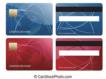 クレジットカード, チップ, 抽象的
