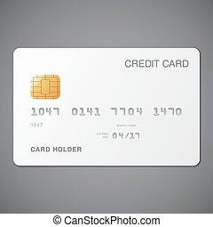 クレジット, 白, カード