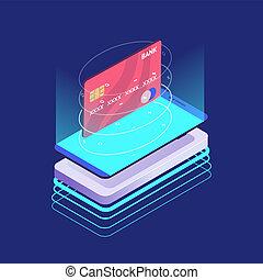 クレジット, 等大, セキュリティー, カード