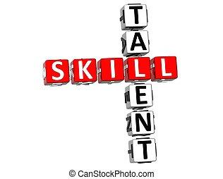 クロスワードパズル, 技能, 才能