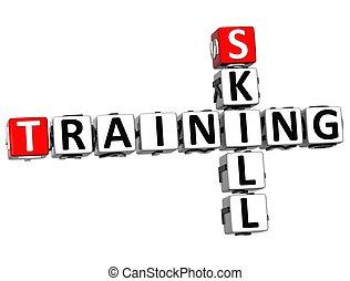 クロスワードパズル, 技能, 訓練, 3d