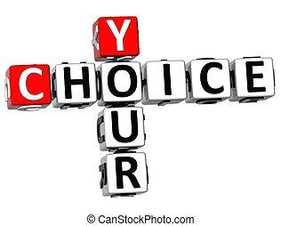 クロスワードパズル, 3d, あなたの, 選択