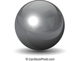 クロム, 球, ベクトル, 金属