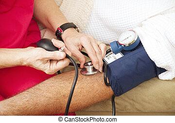 クローズアップ, -, 圧力, 血の テスト