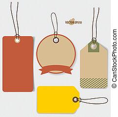 クーポン, スタイル, 型, 価格, セール, voucher., デザイン, テンプレート, v, タグ