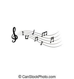 グラフィック, メモ, イラスト, ベクトル, デザイン, テンプレート, 音楽