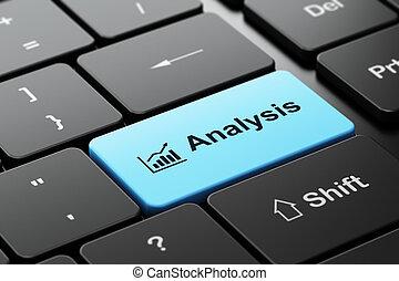 グラフ, 分析, コンピュータ, 成長, 広告, 背景, キーボード, concept: