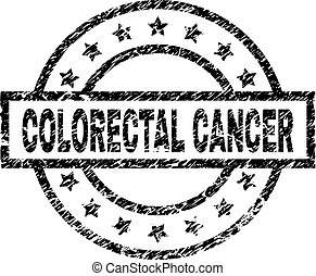 グランジ, がん, 切手, textured, colorectal, シール
