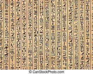グランジ, エジプト, パターン, seamless, デザイン, 象形文字, あなたの