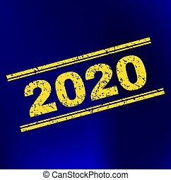 グランジ, 切手, 勾配, 2020, 背景, シール