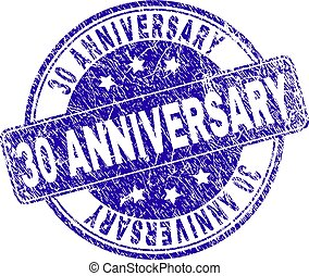 グランジ, 切手, 30, 記念日, textured, シール