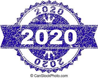 グランジ, 切手, textured, 2020, シール, リボン