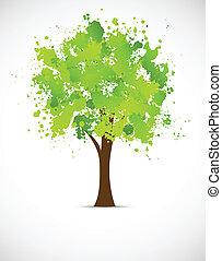 グランジ, 抽象的, 木
