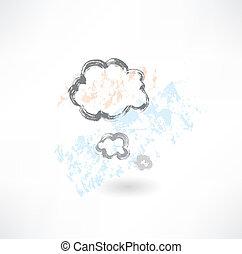 グランジ, 考えなさい, 雲, アイコン