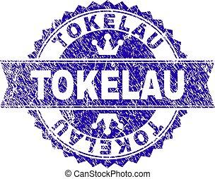 グランジ, tokelau, textured, 切手, シール, リボン