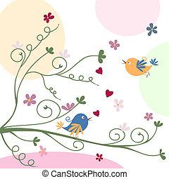 グリーティングカード, 鳥