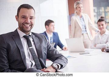 グループ, ビジネスオフィス, 人々