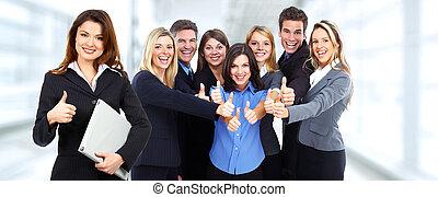 グループ, ビジネス, 人々。, 幸せ
