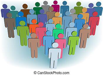 グループ, 人々, シンボル, 色, 会社, ∥あるいは∥, 人口