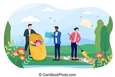 グループ, 概念, 多様, 環境, 人々