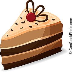 ケーキ小片, 漫画