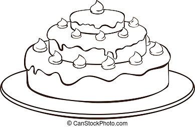 ケーキ, アウトライン