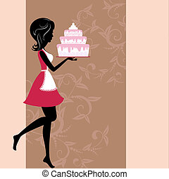 ケーキ, 女の子