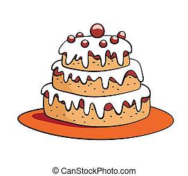 ケーキ, 漫画