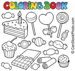 ケーキ, 着色 本, キャンデー