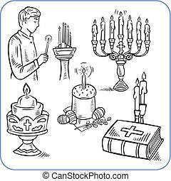 ケーキ, 聖書, -, イラスト, ベクトル, イースター