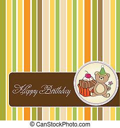 ケーキ, birthday, グリーティングカード