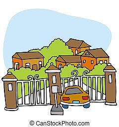 ゲートで制御される, 共同体